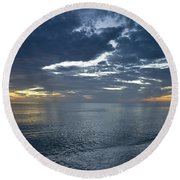 Whispers At Sunset Round Beach Towel
