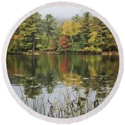 Whispers In The Mist Round Beach Towel