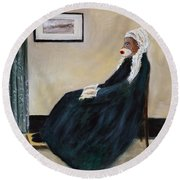 Whistlin Mother Round Beach Towel