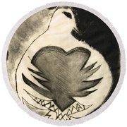 White Dove Art - Comfort - By Sharon Cummings Round Beach Towel by Sharon Cummings