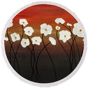 White Dreams Round Beach Towel