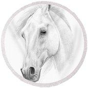 White Horse Round Beach Towel