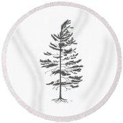 White Pine Round Beach Towel