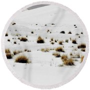 White Sands Life Round Beach Towel