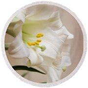 White Softness Round Beach Towel