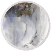 White Still Life Vase And Candlestick Round Beach Towel