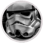 White Stormtrooper Round Beach Towel