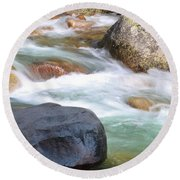 White Water Round Beach Towel