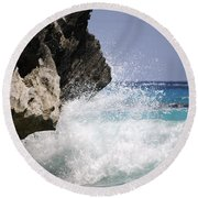 White Water Paradise Round Beach Towel