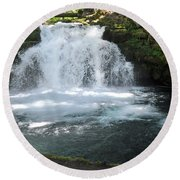 Whitehorse Falls Series 9 Round Beach Towel