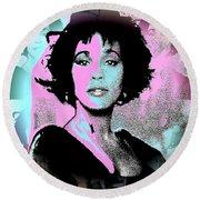 Whitney Houston Sing For Me Again Round Beach Towel