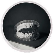 Round Beach Towel featuring the photograph Whose Teeth Are These? by Trish Mistric