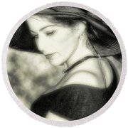 Wiccan Lady Round Beach Towel