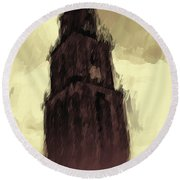 Wicked Tower Round Beach Towel