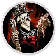 Wicked Voodoo Doctor Round Beach Towel by Michael Spano