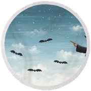 Wicked Witch Round Beach Towel by David Carter Brown