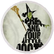 Wicked Witch Of The West Round Beach Towel by Ayse Deniz