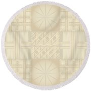 Wicker Quilt Round Beach Towel by Kevin McLaughlin