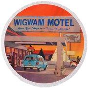 Wigwam Motel Round Beach Towel