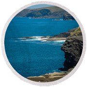 Wild Atlantic Coast Round Beach Towel