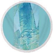 Wild Blue Waves Round Beach Towel by Asha Carolyn Young