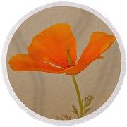 Wild California Poppy No 1 Round Beach Towel