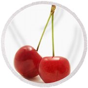 Wild Cherry Round Beach Towel