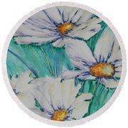 Wild Daisys Two Round Beach Towel by Chrisann Ellis