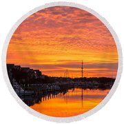 Wild Dunes Sunset Isle Of Palms Round Beach Towel