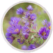 Wild Flowers In The Fall Round Beach Towel