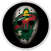 Wild Goalie Mask Round Beach Towel