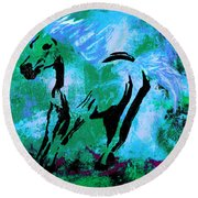 Wild Midnight Round Beach Towel