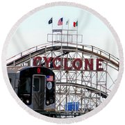 Round Beach Towel featuring the photograph Wild Rides by Ed Weidman
