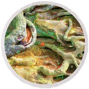 Wild Roots By Christopher Shellhammer Round Beach Towel