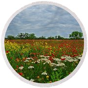 Wild Texas Round Beach Towel by Lynn Bauer
