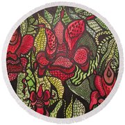 Wild Things  Round Beach Towel