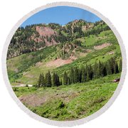 Wilderness Area And Snake River Round Beach Towel