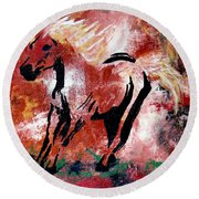 Wildfire Round Beach Towel