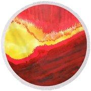 Wildfire Original Painting Round Beach Towel