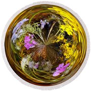 Round Beach Towel featuring the photograph Wildflower Paperweight by Gary Holmes