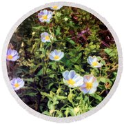 Wildflower Wandering Round Beach Towel