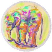Wildlife Baby Elephant Round Beach Towel