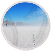 Wildlife Tracks Round Beach Towel