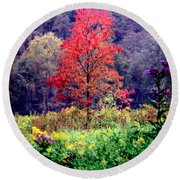 Wildwood Flowers Round Beach Towel
