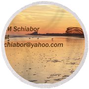 Wildwood Sunset Round Beach Towel