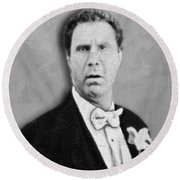 Will Ferrell Old School  Round Beach Towel