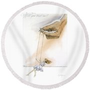 Will You Trust Me Blonde Round Beach Towel