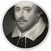 William Shakespeare Round Beach Towel