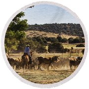 Williamson Valley Roundup 6 Round Beach Towel
