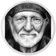 Willie Nelson Round Beach Towel